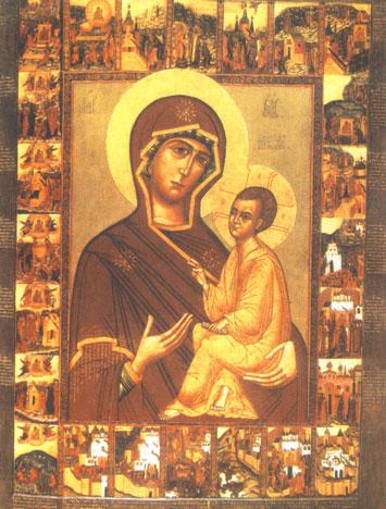 Тихвинская Чудотворная икона Божьей матери